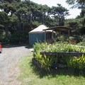 One of two yurts at Beachside State Recreation Site Campground.- Beachside State Recreation Site Campground