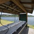 Fish cleaning station at Alsea Bay Marina.- Alsea Bay Marina + Robinson Park