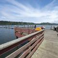 Alsea Bay Marina and boat docks.- Alsea Bay Marina + Robinson Park