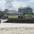 View of Nye Beach with Sylvia Beach Hotel (New Cliff House).- Nye Beach