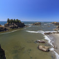 Overlooking Secret Beach at low tide.- Samuel H. Boardman State Scenic Corridor
