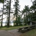 Picnic area and shelter on the east side of Cranberry Lake.- Cranberry Lake