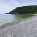 Looking north up the beach.- Bowman Bay