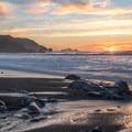 Sunset from Rockaway Beach.- Rockaway Beach