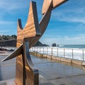 The plaza at Rockaway Beach.- Rockaway Beach