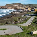 The wide path south of Rockaway.- Rockaway Beach