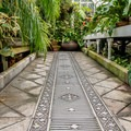 Even the floor is stunning in this historic structure.- Conservatory of Flowers