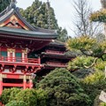 Pagoda in the traditional style.- Japanese Tea Garden