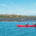 The paddle starts near the dunes of Moss Landing State Beach.- Elkhorn Slough