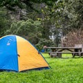 Tent camping.- New Brighton Campground