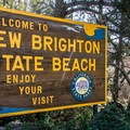 Welcome to New Brighton State Beach.- New Brighton Campground