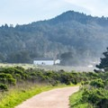 Looking back at the visitor center.- Año Nuevo Point Trail