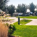 Paved sites in the RV area keep things clean.- Costanoa KOA