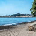Seacliff Beach from the end of the campground.- Seacliff State Beach Campground