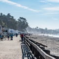 Walking path along Seacliff Beach and the campground.- Seacliff State Beach Campground