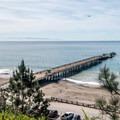 Seacliff Beach and wharf.- Seacliff State Beach Campground