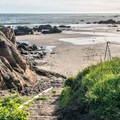 Villa Beach is near the southern end of the park.- Estero Bluffs State Park