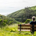 A welcome bench.- Harmony Headlands State Park