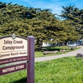 Entrance to Islay Creek Campground.- Islay Creek Campground
