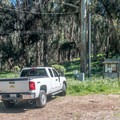 Parking for the walk-in sites.- Montana de Oro Environmental Campsites