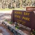 Campground entrance.- Morro Bay State Park Campground