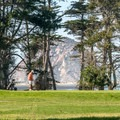 The campground is next to Morro Bay Golf Course.- Morro Bay State Park Campground