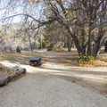 Typical campsite at Lake Campground.- Lake Campground