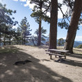 Typical campsite at Table Mountain Campground.- Table Mountain Campground