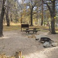 Typical campsite at Mountain Oak Campground.- Mountain Oak Campground