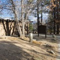 Restroom facilities at Mountain Oak Campground.- Mountain Oak Campground