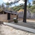 Vault toilet facilities at Jackson Lake.- Jackson Lake Day Use Area