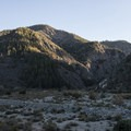 View of South Fork Canyon from South Fork Campground.- South Fork Campground, Big Rock Creek