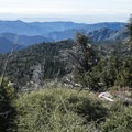 View south of the San Gabriel Mountains from the Sunset Ridge Trail.- Sunset Ridge Trail Scenic Viewpoint