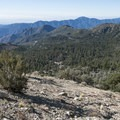 View south of the Crystal Lake Recreation Area.- Windy Gap Trail Hike