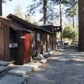 One of three cabins at Crystal Lake Recreation Area Campground.- Crystal Lake Recreation Area Campground