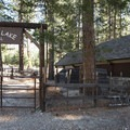 Horseback riding facilities at Crystal Lake Recreation Area Campground.- Crystal Lake Recreation Area Campground