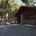 Restroom facilities at Crystal Lake Recreation Area Campground.- Crystal Lake Recreation Area Campground