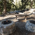 Typical campsite at Deer Flat Group Campground.- Deer Flat Group Campground