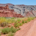 Ice-cream-cake layers of the Raplee Anticline.- Mexican Hat Rock