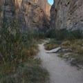 Hiking into Santa Elena Canyon along the short, easily accessible trail.- Santa Elena Canyon