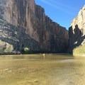 Boating on the Rio Grande in Big Bend National Park.- Santa Elena Canyon