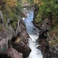 Gorge with walkway.- High Falls Gorge