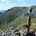 Signs are easy to spot after the snow has melted.- Mount Washington via Tuckerman Ravine Trail