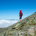 Getting above the clouds.- Mount Washington via Tuckerman Ravine Trail