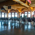 Inside the visitor center is a surprisingly comfortable escape from the wind.- Mount Washington via Tuckerman Ravine Trail