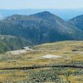 The auto road as seen from the visitor center.- Mount Washington via Tuckerman Ravine Trail