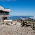 The summit visitor center and viewing platform.- Mount Washington via Tuckerman Ravine Trail