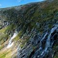 Transition of the seasons in Tuckerman Ravine.- Mount Washington via Tuckerman Ravine Trail