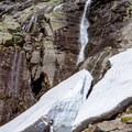 Ice and snow linger well into the summer. Be careful of falling ice at all times of year.- Mount Washington via Tuckerman Ravine Trail