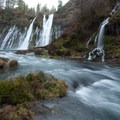 The McArthur-Burney Falls from downstream.- McArthur-Burney Falls Memorial State Park